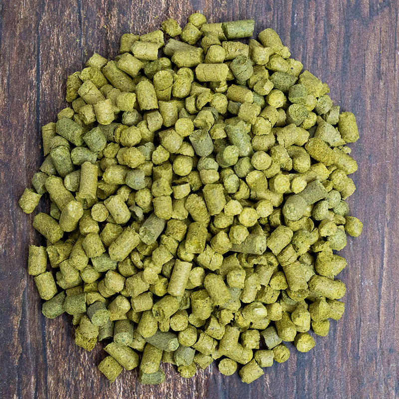 Styrian Aurora Hop Pellets in a pile