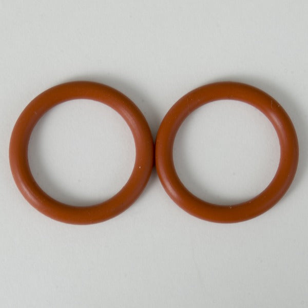 Two red kettle O-rings