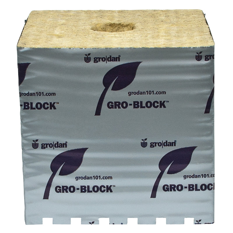 "GRODAN GRO-BLOCKS Hugo, 6"" x 6"" x 6"" w/ Holes"