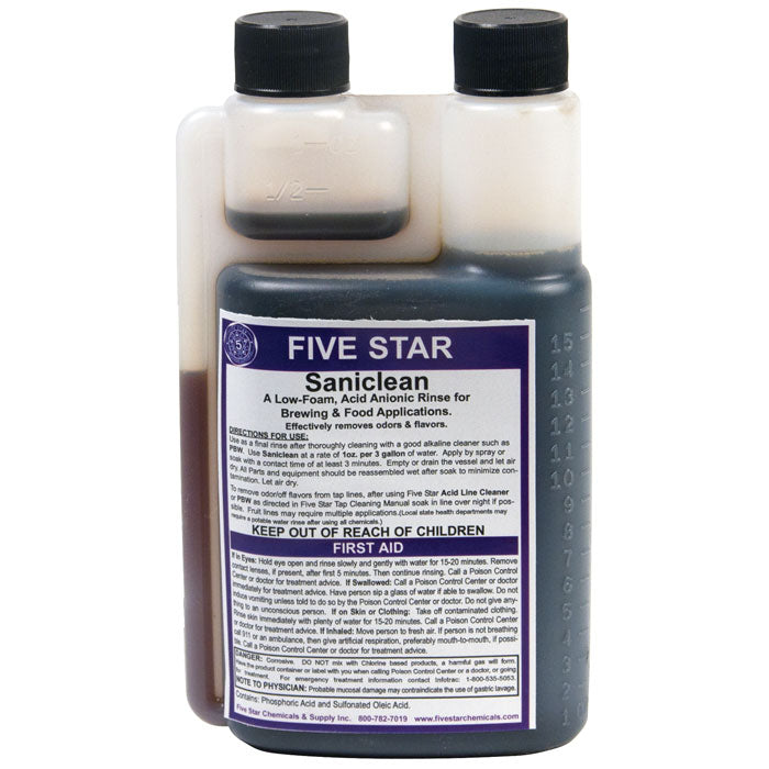 Five star saniclean in its container