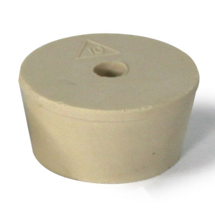 Rubber Stopper- Size 10- Drilled