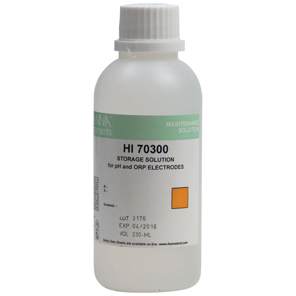 230-milliliter container of Storage Solution for pH Meters