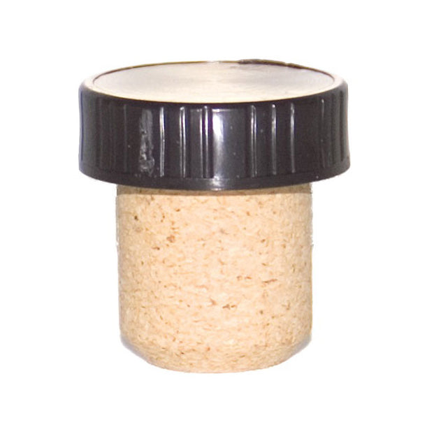 Black Plastic Top Tasting Corks - 12 or 100 ct.