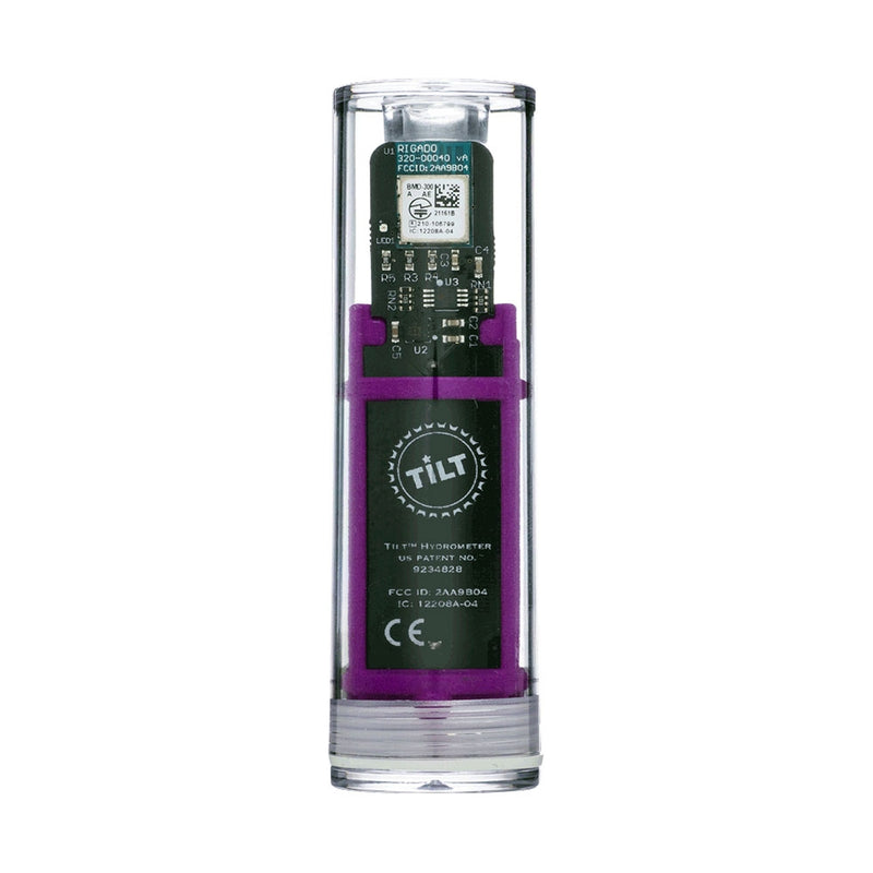 Purple Tilt Digital Hydrometer and Thermometer