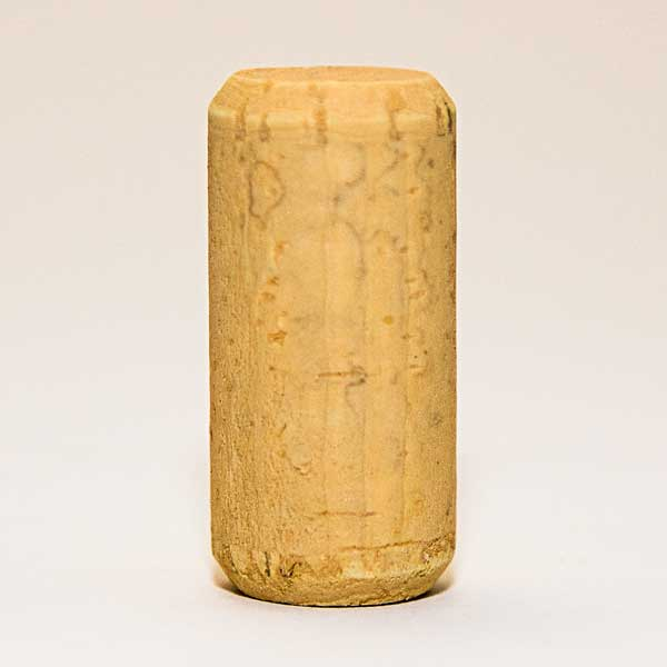 A 13/16 inch by 1-3/4 inch #7 Straight Wine Cork