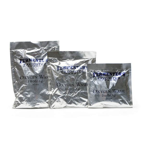 Oxygen Wash in three differently-sized sachets