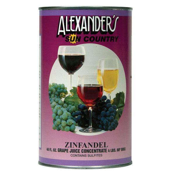 Zinfandel Wine Concentrate 46 oz. (Alexander's Sun Country Concentrates)
