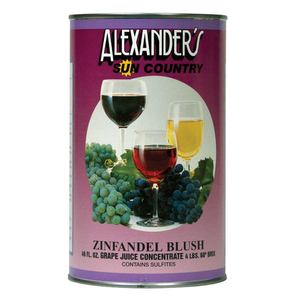 Zinfandel Blush Alexander's Sun Country Concentrates