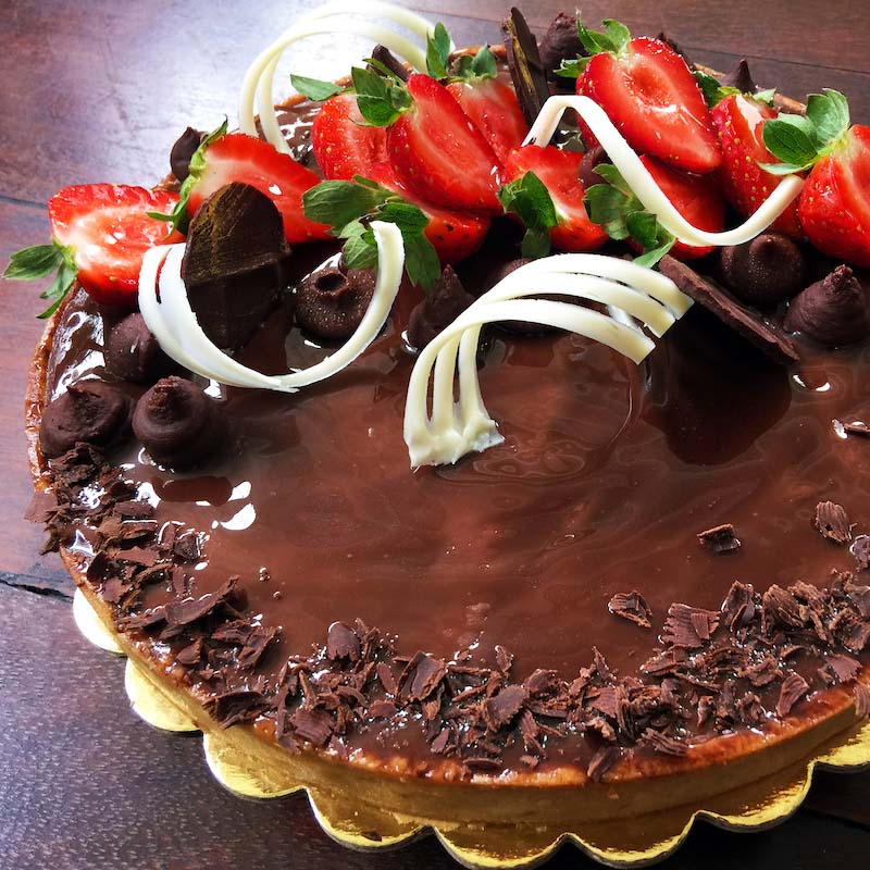 Large chocolate tart