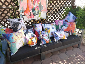 Artful pillow collection