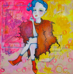 "Giclee Canvas Print, ""Another Woman's Beauty"", stretched on canvas, 12"" x 12"""