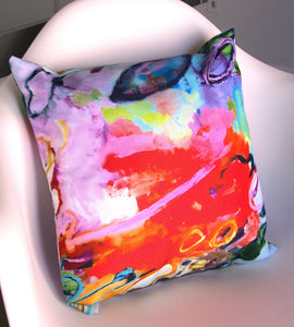 "Artful Pillow, home accent, 16"" x 16"", ""Wild Fury"""