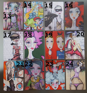 "Printed Art Card Collection, Variety Pack of 5,  4"" x 6"" on thick 1.0 mm card stock"