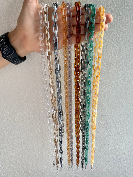 Acrylic Face Mask Chain