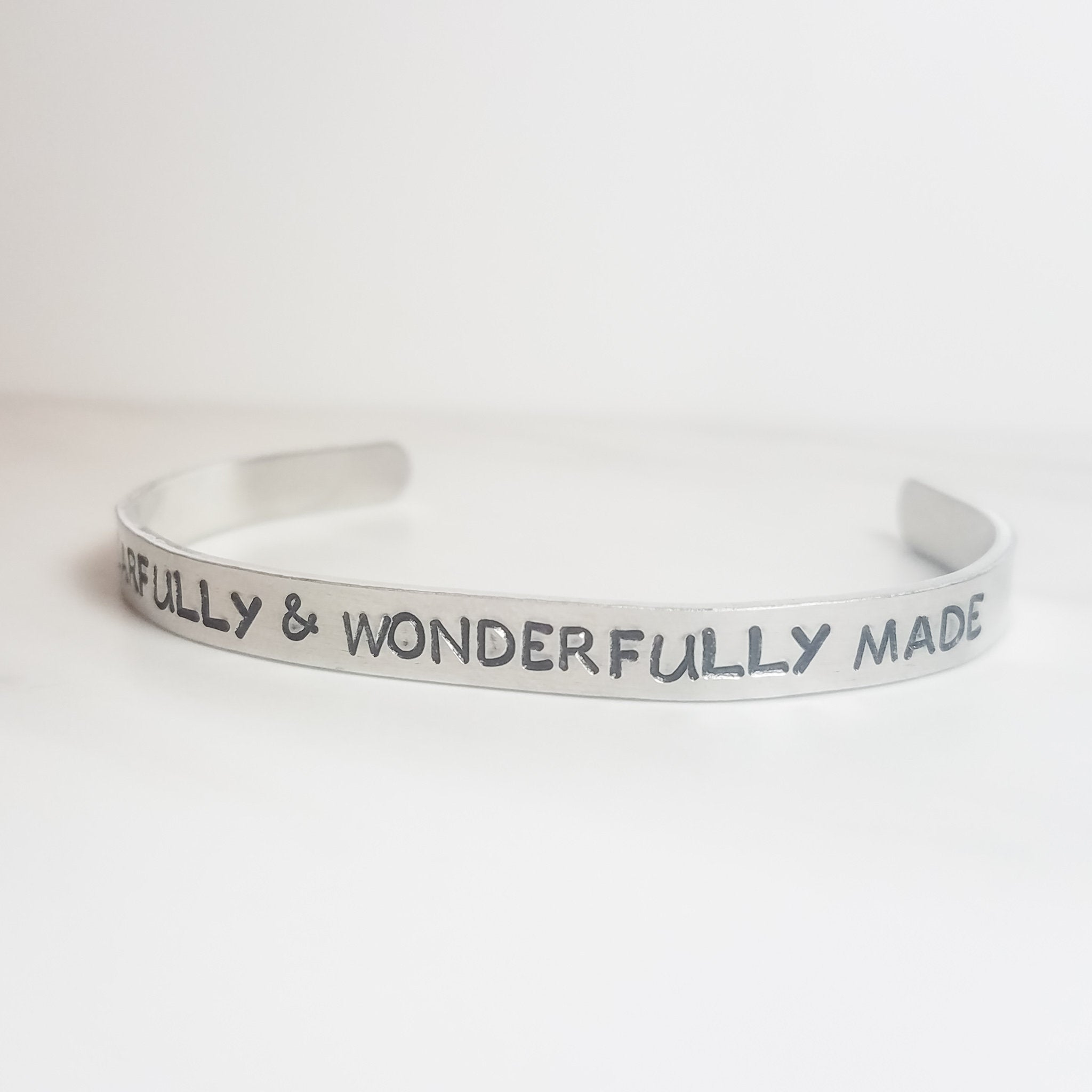 Fearfully and Wonderfully Made cuff bracelet