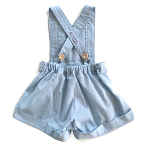 Light Blue Linen | Cuffed Shorts