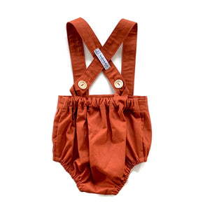 Burnt Orange | Suspender Romper