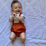 Load image into Gallery viewer, Burnt Orange | Suspender Romper