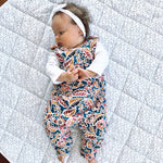 Load image into Gallery viewer, Multi-Coloured Floral | Reversible Jumpy Romper