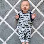 Load image into Gallery viewer, Moustache | Reversible Jumpy Romper