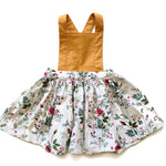 Load image into Gallery viewer, Mustard & Spring Floral | Pinafore Dress