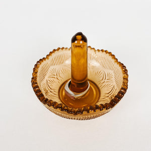 Glass Ring Drop in Amber