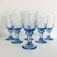 Load image into Gallery viewer, Set of 4 Blue Glass Goblets