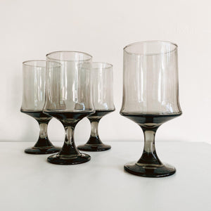 Set of 4 Smoked Goblets