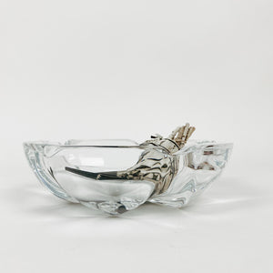 Set of 2 Glass Nesting Ashtrays
