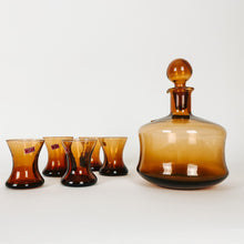 Load image into Gallery viewer, Italian Amber Decanter Set