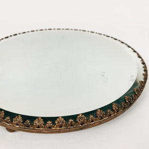 Victorian Brass Mirror Tray
