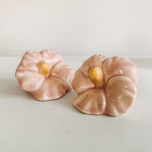 Hibiscus Salt and Pepper Shakers