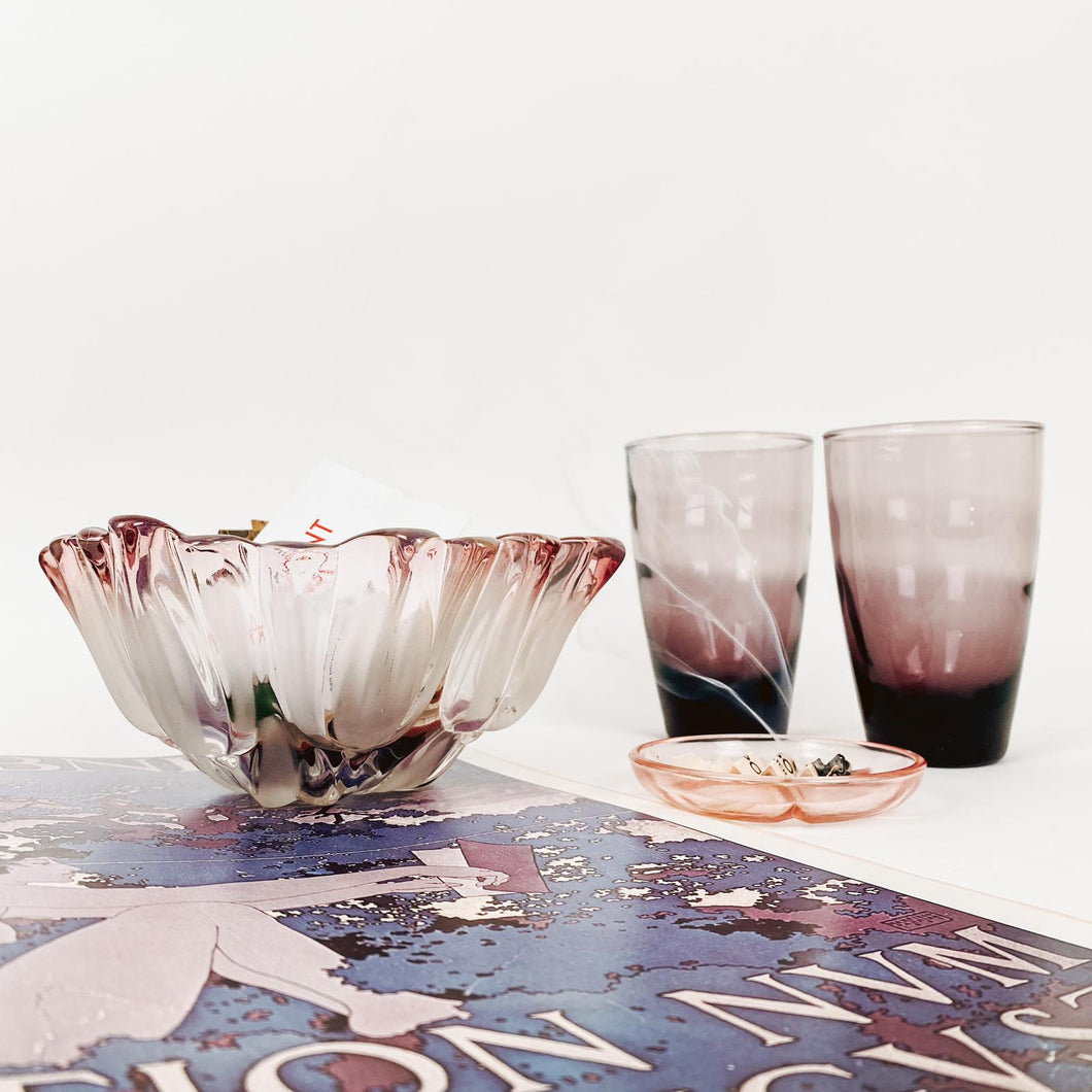 Pair of Amethyst Water Glasses