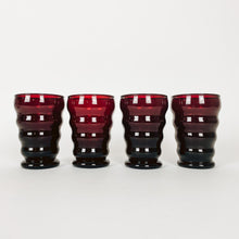 Load image into Gallery viewer, Set of 4 Red Juice Glasses