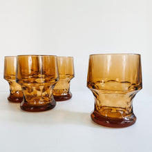 Load image into Gallery viewer, Set of 4 Amber Stemless Goblets