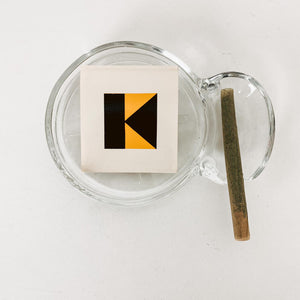 Glass Coaster or Personal Ashtray