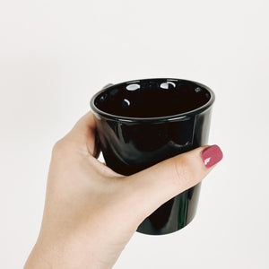 Glass Coffee/Tea Mug in Black - Sold Individually