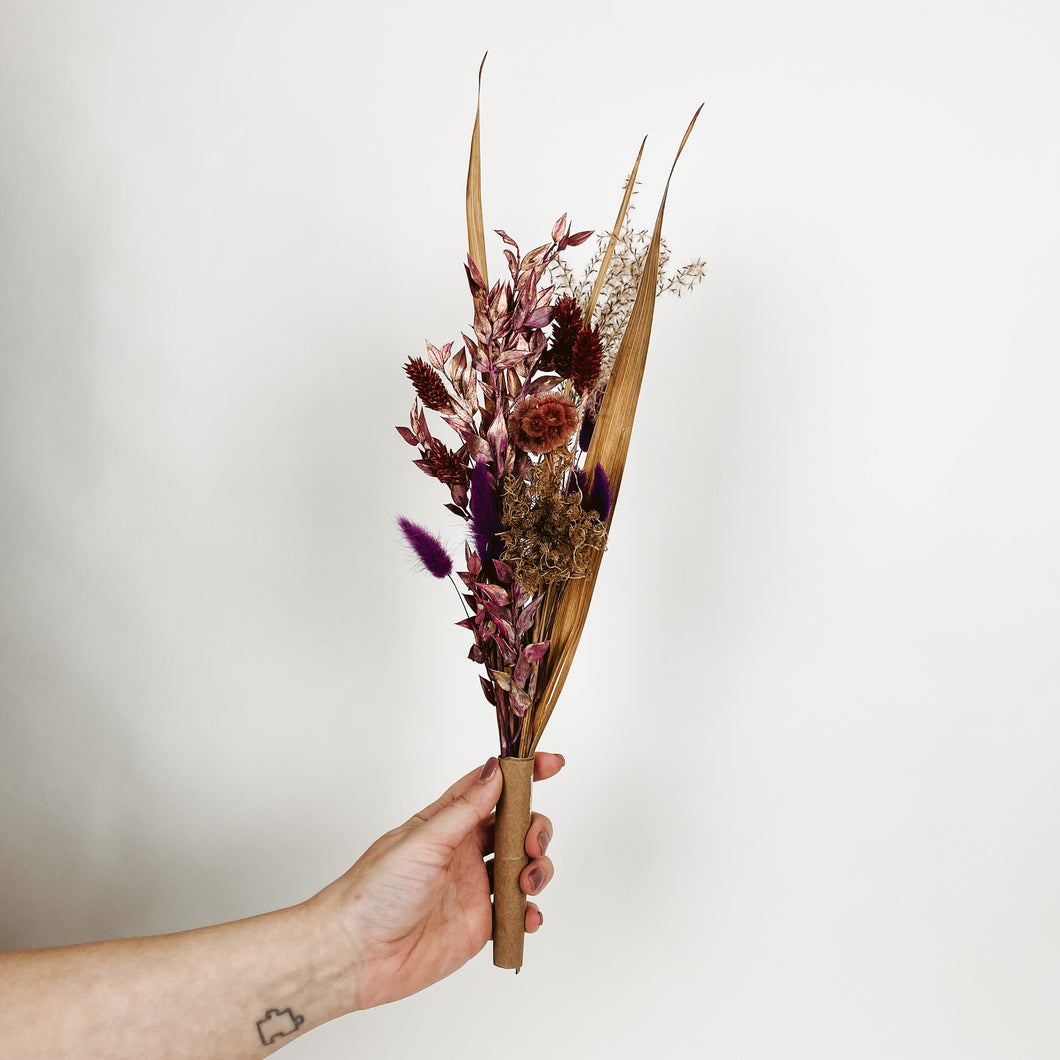 Small Dried Flower Bouquet - Boysenberry