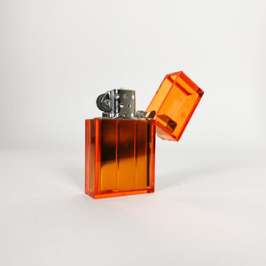 Orange Hard Edge Refillable Lighter