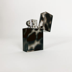 Black Marble Hard Edge Refillable Lighter