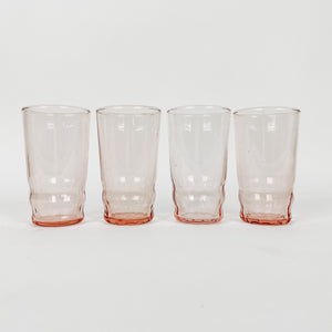 Set of 4 Pink Juice Glasses