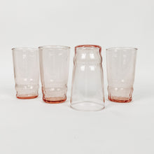 Load image into Gallery viewer, Set of 4 Pink Juice Glasses