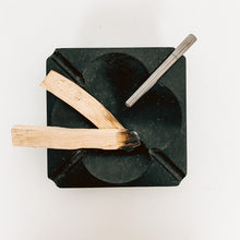 Load image into Gallery viewer, Black Slate Stone Ashtray
