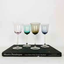 Load image into Gallery viewer, Set of 4 Multi Colored Wine Glasses