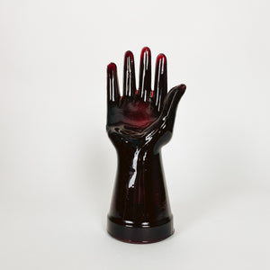 Red Glass Hand