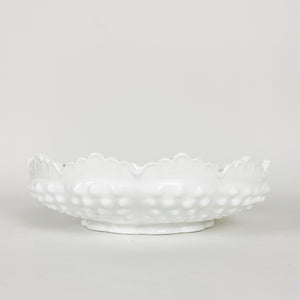 White Milk Glass Hob Nail Ashtray