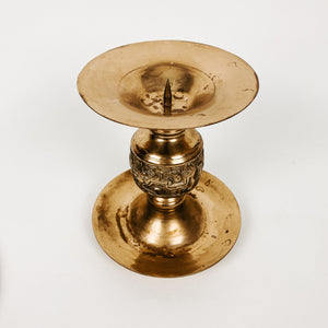 Brass Pillar Candlestick Holder
