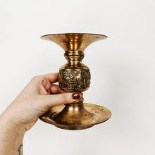 Load image into Gallery viewer, Brass Pillar Candlestick Holder