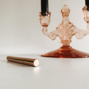 Slim Stick Refillable Rose Gold Round Lighter