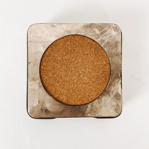 Set of 6 Metal and Cork Coasters